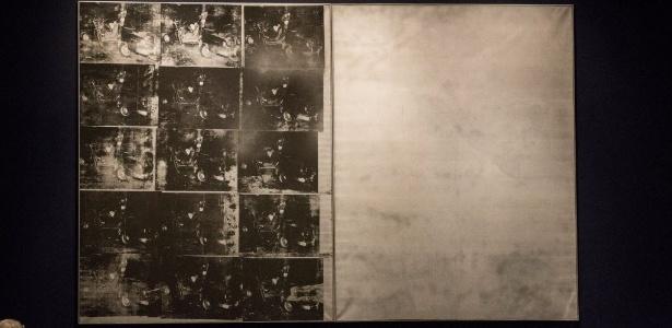 "Imagem de ""Silver Car Crash (Double Disaster)"", de Andy Warhol - Andrew Burton/AFP"