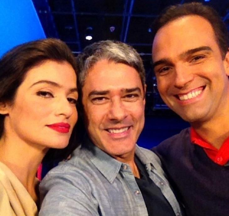 Renata Vasconcellos, Bonner e Tadeu Schmidt