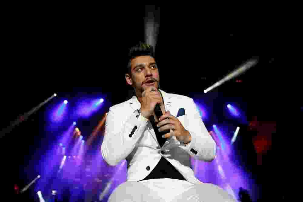 16.nov.2013 - Lucas Lucco faz sua estreia no Caldas Country Show. O cantor, que é uma aposta do sertanejo Sorocaba, diz ser comparado ao Ricky Martin - FotoRioNews