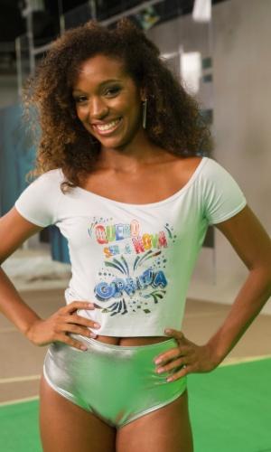 Camila Silva também foi escolhida pelos jurados. As finalistas passarão por uma nova prova no próximo domingo