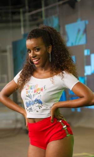 Kamila Ferraz foi uma das cinco escolhidas pelos jurados. As finalistas passarão por uma nova prova no próximo domingo