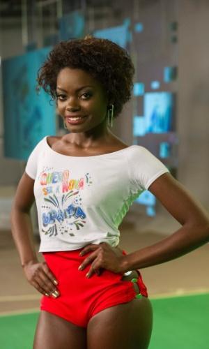 Nayara Justino foi uma das cinco escolhidas pelos jurados. As finalistas passarão por uma nova prova no próximo domingo