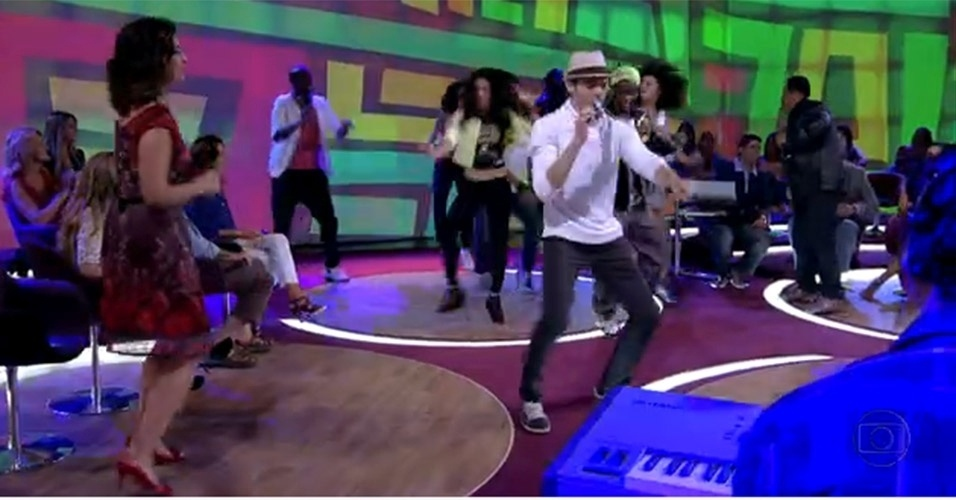 """No """"Encontro"""" do dia 19 de outubro de 2012, Fátima dançou ao som dos criadores do hit """"Vem Dançar Com Tudo"""""""