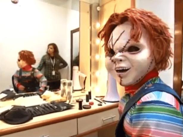 """Pegadinha com Chucky no """"Programa Silvio Santos"""""""