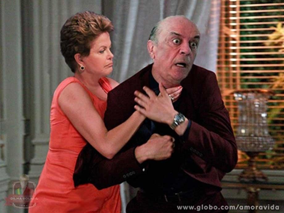 """Em outra montagem, Dilma Roussef enforca José Serra: """"A corrida eleitoral já começou..."""""""