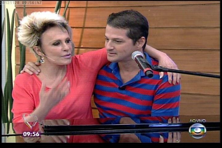 """20.nov.2013 - Ana Maria Braga e Marcelo Serrado no """"Mais Você"""""""