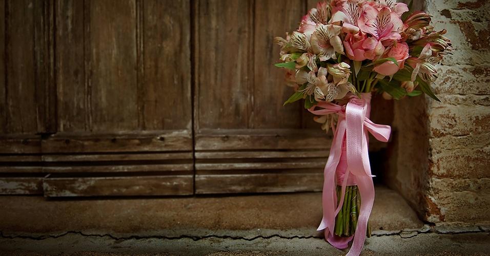 O buquê da noiva Bia Bryan Campana, que se casou com Fábio Campana em janeiro de 2011, em Americana (SP).