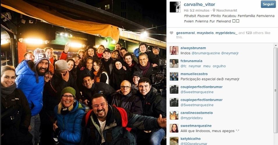 21.nov.2013 - O jogador Neymar aproveitou sua folga no Barcelona, para visitar a namorada, a atriz Bruna Marquezine na Áustria