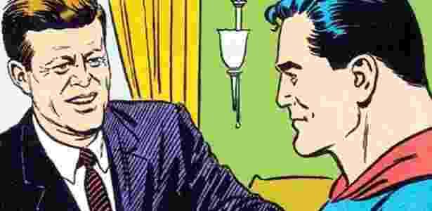 """Detalhe de ilustração da HQ """"Superman""""s Mission For President Kennedy"""", desenhada pelo quadrinista Al Plastino - Reprodução"""