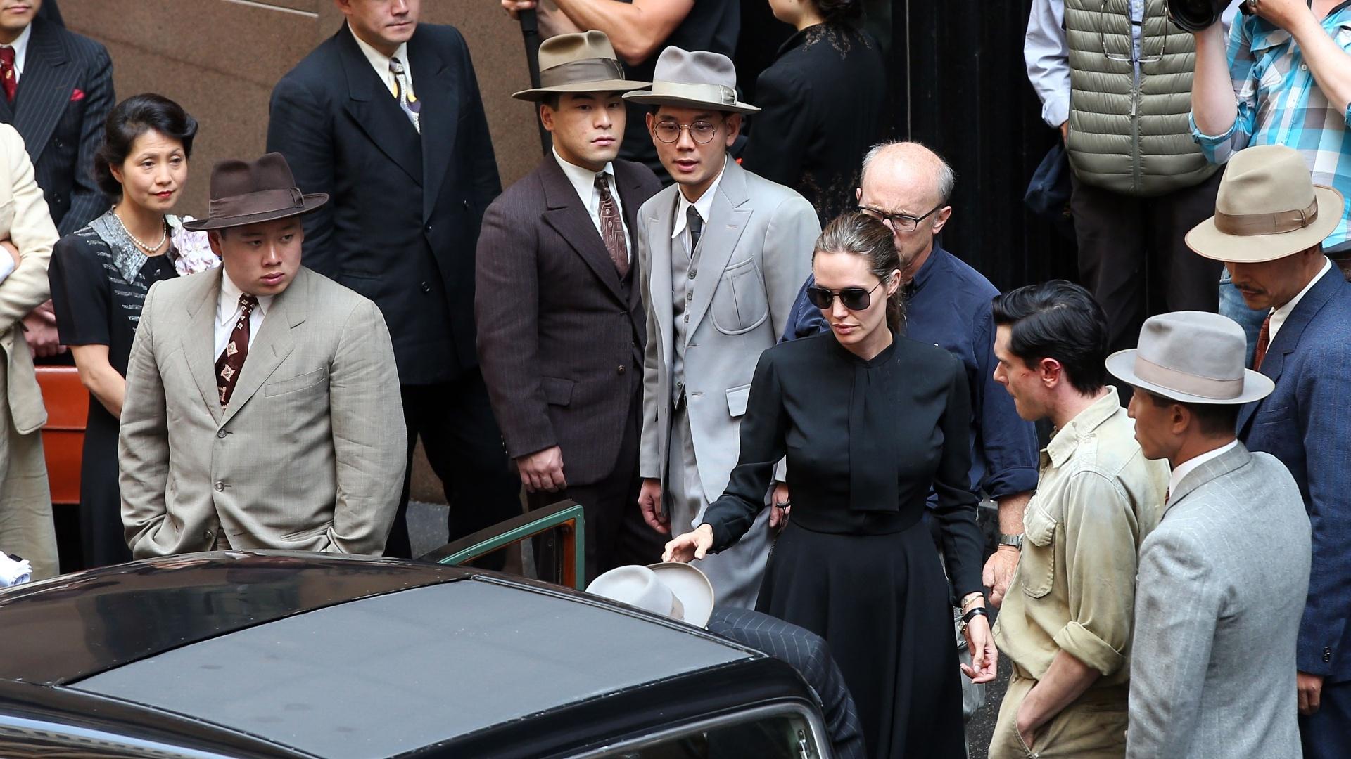 21.nov.2013 - Angelina Jolie grava seu novo filme em Sydney, na Austrália