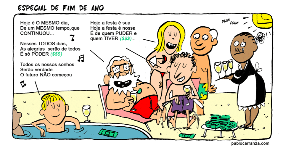 25.nov.2013 - A mensagem subliminar de fim de ano da Globo