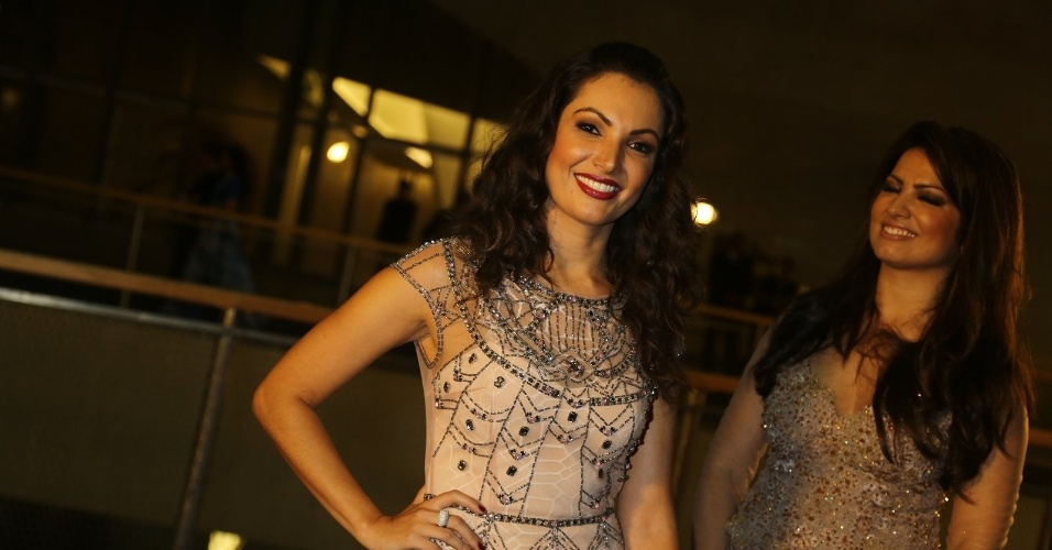23.nov.2013 - Patrícia Poeta participa do especial de fim de ano de Roberto Carlos, na Globo
