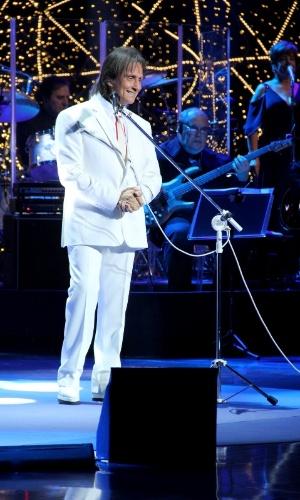 23.nov.2013 - Roberto Carlos grava especial de fim de ano para a Rede Globo