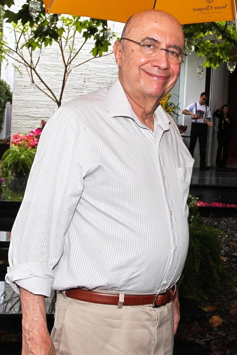 23.nov.2013 - Henrique Meirelles, ex-presidente do Banco Central, no aniversário da jornalista Ticiana Villas Boas no Jardim Europa, em São Paulo