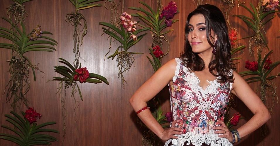 23.nov.2013 - Jornalista Ticiana Villas Boas comemora aniversário em casa, no Jardim Europa, em São Paulo