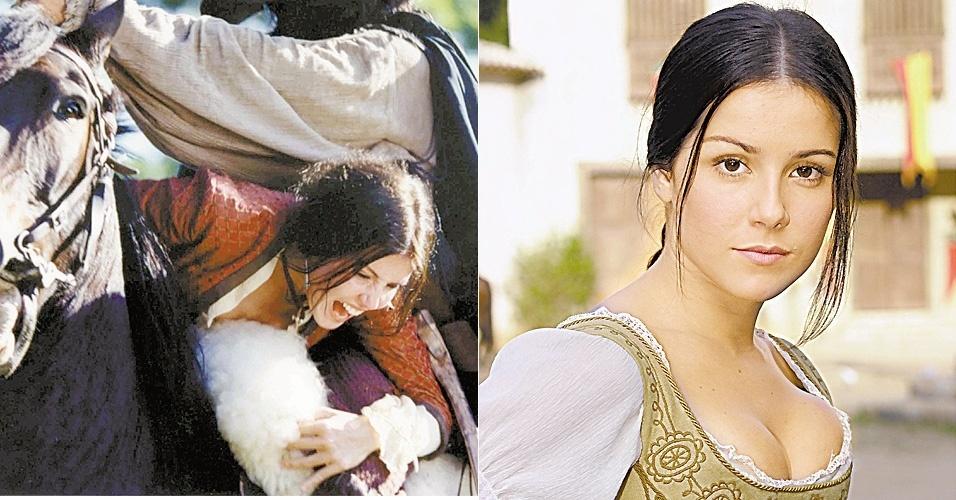 """20.abri.2001 - """"A Padroeira"""" foi a primeira novela de Deborah como protagonista. Na trama da seis, ela faz par com Luigi Baricelli"""