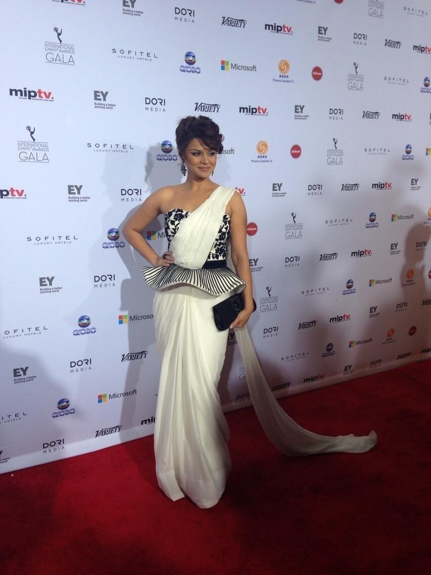 25.nov.2013 - Iama Ashka prestigiou a 41ª edição do Emmy Internacional que acontece em Nova York