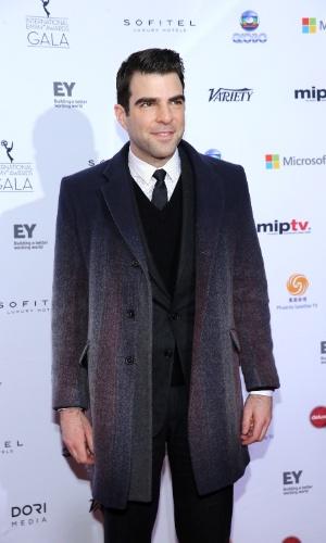 25.nov.2013 - Zachary Quinto na 41ª edição do Emmy Internacional que acontece em Nova York