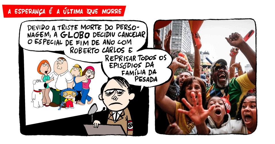 26.nov.2013 - E se a Globo decidisse cancelar o especial de fim de ano do Roberto Carlos?