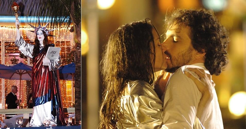 """29.set.2005 - Como a imigrante Sol, Deborah sofre em """"América"""". Mas no final, ela acaba feliz ao lado de de Ed (Caco Ciocler)"""