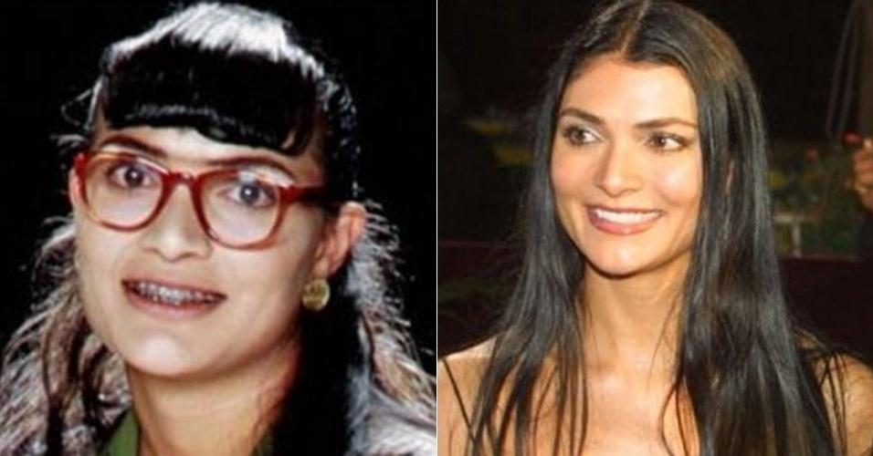 """A Rede TV! exibiu a versão colombiana de """"Betty, a Feia"""", em que a atriz Ana María Orozco deixou de ser feia para viver um mulherão"""