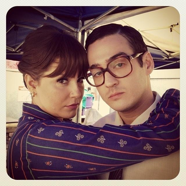 Deborah e Marco Veras gravam filme