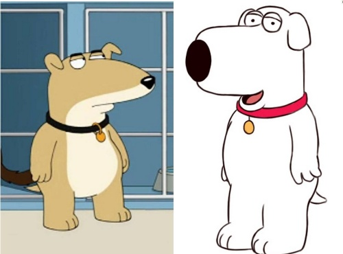 """Vinny (à esq) irá substituir Brian (à dir), que morreu no último episódio de """"Uma Família da Pesada"""""""