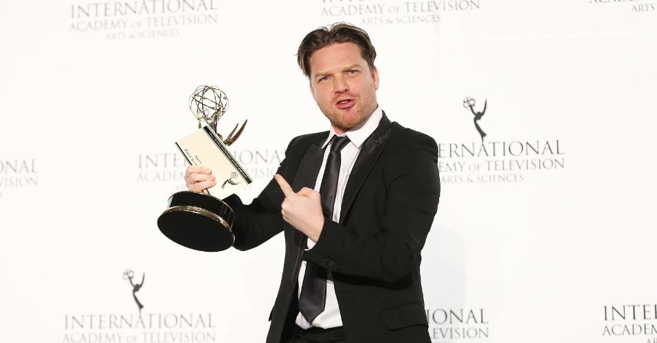 25.nov.2013 - O produtor Rhys Thomas na 41ª edição do Emmy Internacional que acontece em Nova York