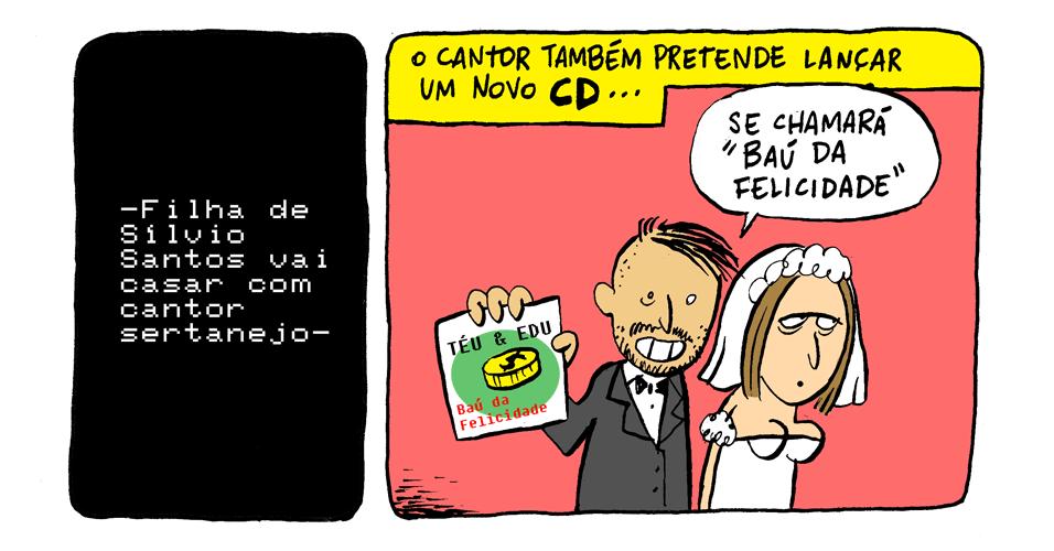 27.nov.2013 - Qual é a música do noivado da filha de Silvio Santos