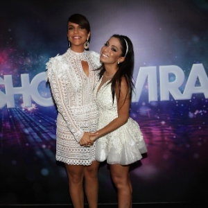 "Ivete Sangalo e Anitta nos bastidores do último ""Show da Virada"""