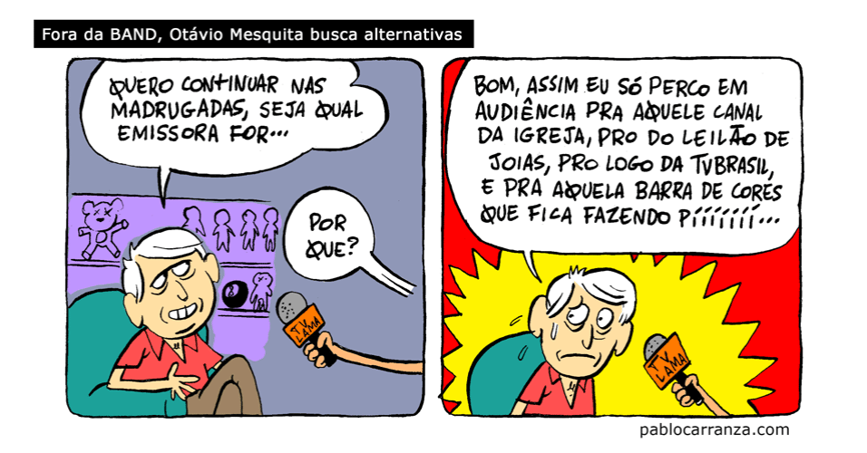 28.nov.2013 - Fora da Band, Otávio Mesquita busca alternativas