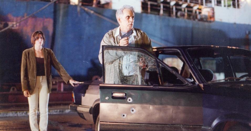 """1997 - Francisco Cuoco viveu o pai de Diana (Malu Mader) em """"A Justiceira"""""""