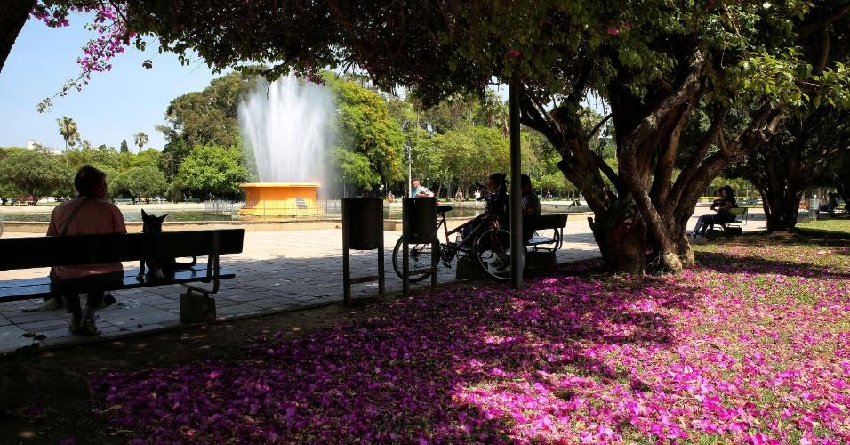 Parque Farroupilha, em Porto Alegre (RS): belo cenário para relaxar