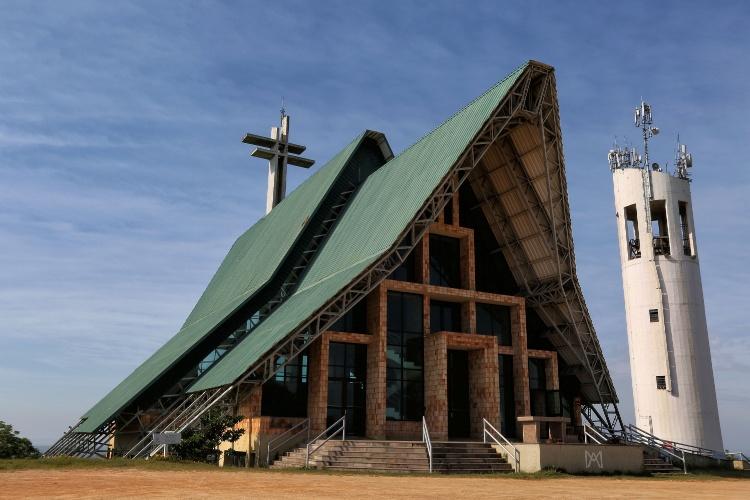 Santuário Mãe de Deus, um dos pontos mais altos da cidade de Porto Alegre (RS)