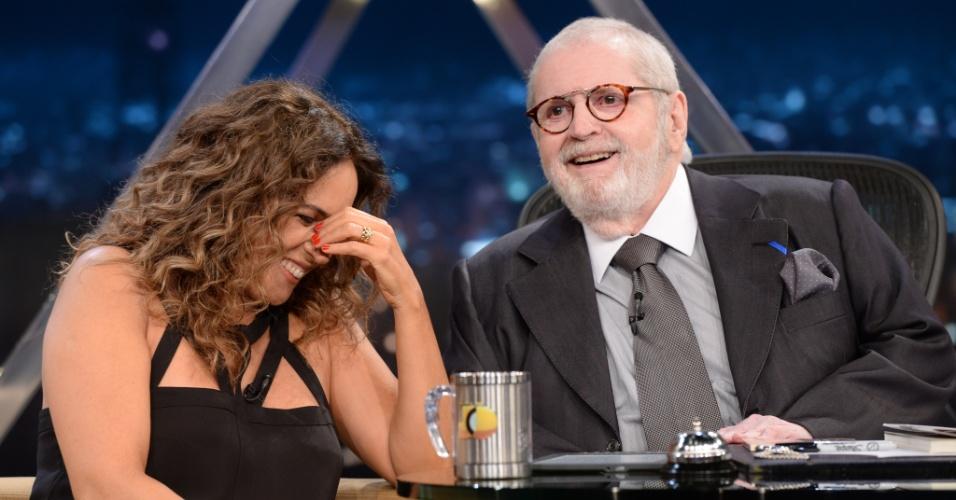 Daniela Mercury com Jô Soares no