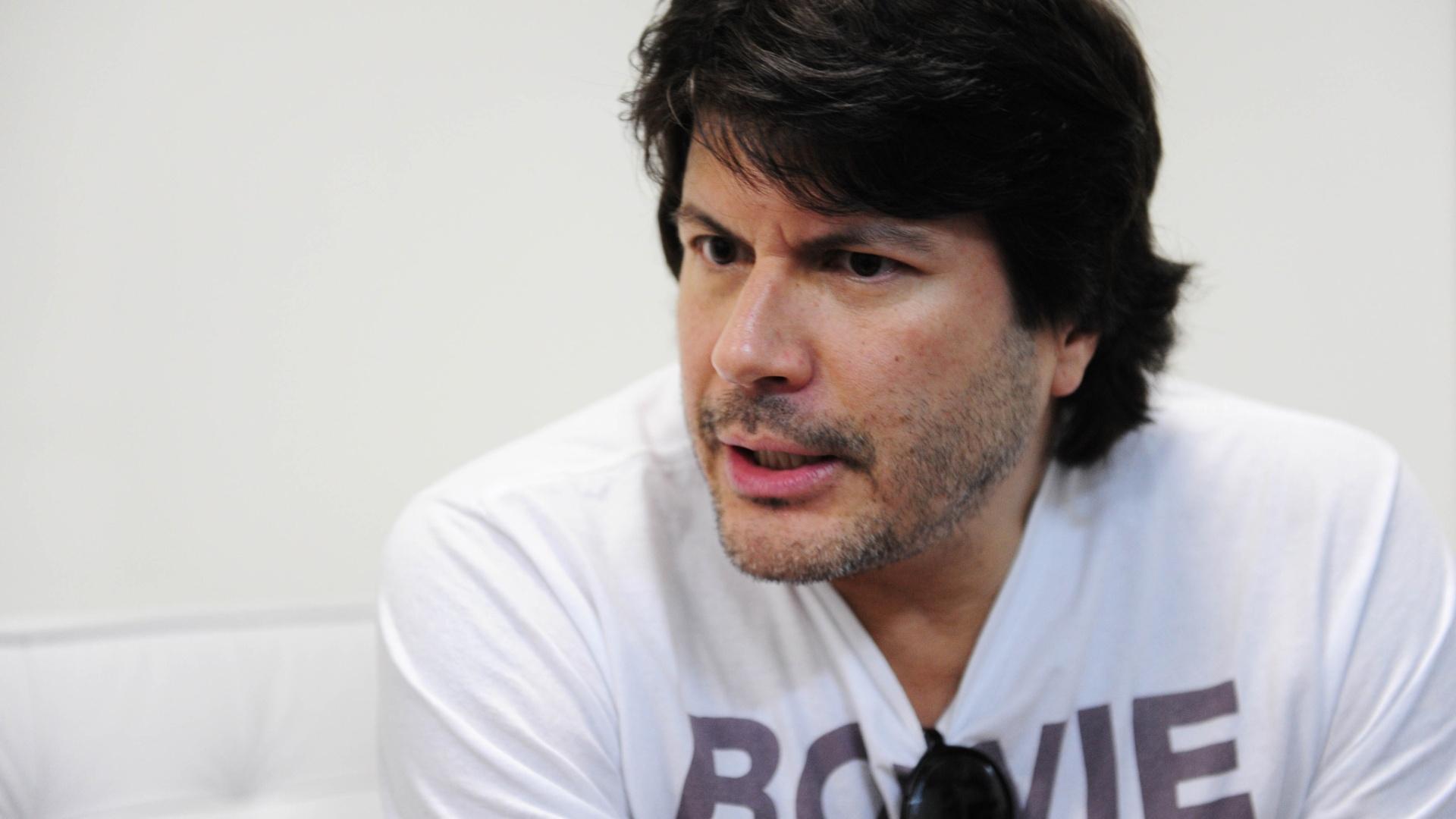 29.nov.2013 - Paulo Ricardo, vocalista do RPM e amigo de Cazuza, em entrevista durante ensaio do show com holograma