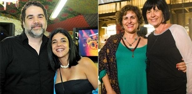 """À esq., os autores de """"Cheias de Charme"""", Filipe Miguez e Izabel de Oliveira, e à dir. as autoras de """"Joia Rara"""", Duca Rachid e Thelma Guedes"""