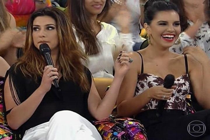 Fernanda Paes e Mariana Rios servem de juradas para a performance dos estrangeiros