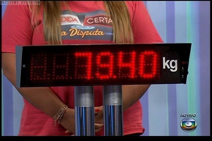 """01.dez.2013 - Quadro mostra o peso de Preta Gil depois de sair do """"Medida Certa"""", do """"Fantástico"""""""