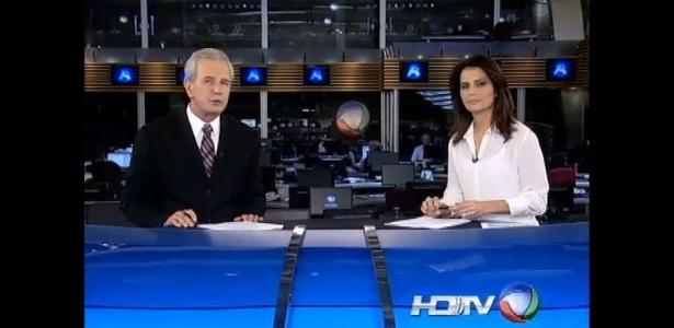"""2013 - Celso Freitas e Adriana Araújo no """"Jornal da Record"""""""