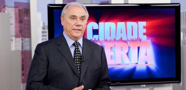 """Marcelo Rezende no comando do """"Cidade Alerta"""" - Divulgação/Record"""