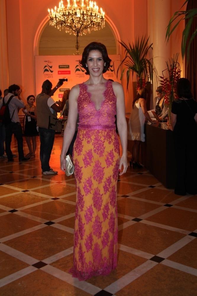 03.dez.2013- Maria Clara Gueiros prestigia premiação da Veja Rio no Copacabana Palace