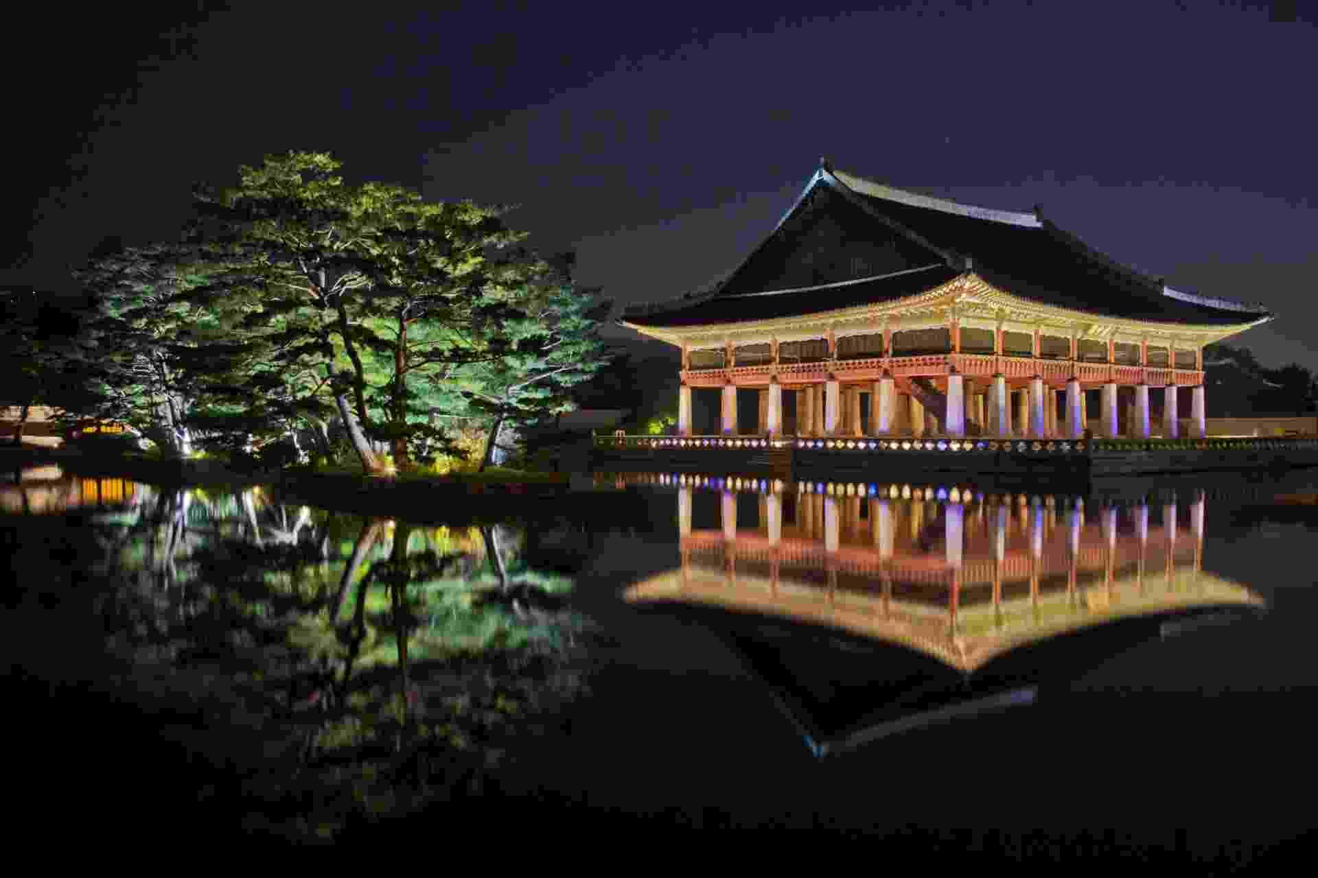 Fachada do palácio Kyongbok, em Seul, na Coreia do Sul - Thinkstock