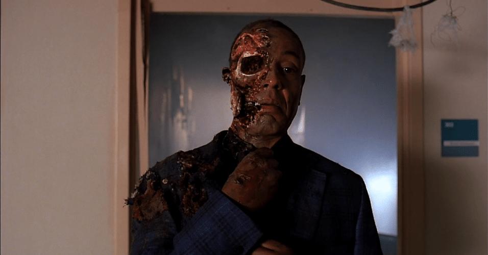 """Em """"Breaking Bad"""", Gustavo Fring (Giancarlo Esposito), o maior traficante de metanfetamina de Albuquerque morreu após uma armação de Walter White (Bryan Cranston), que não queria mais seguir suas ordens"""