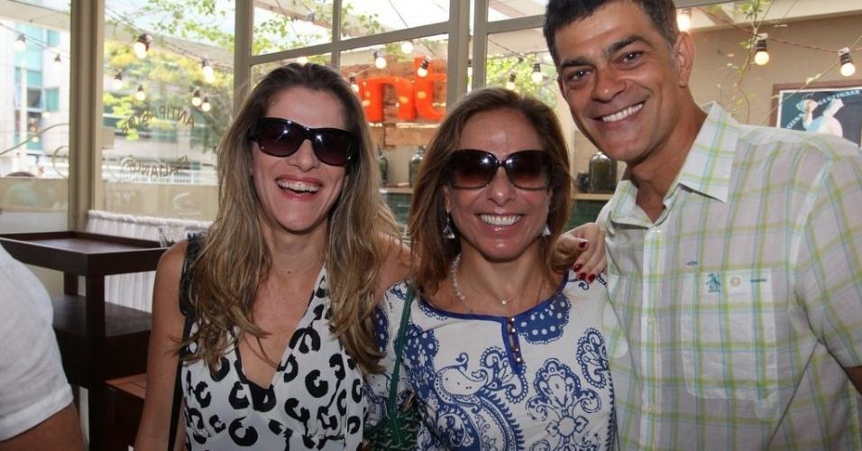 Ingrid Guimarães, Cissa Guimarães e Eduardo Moscovis