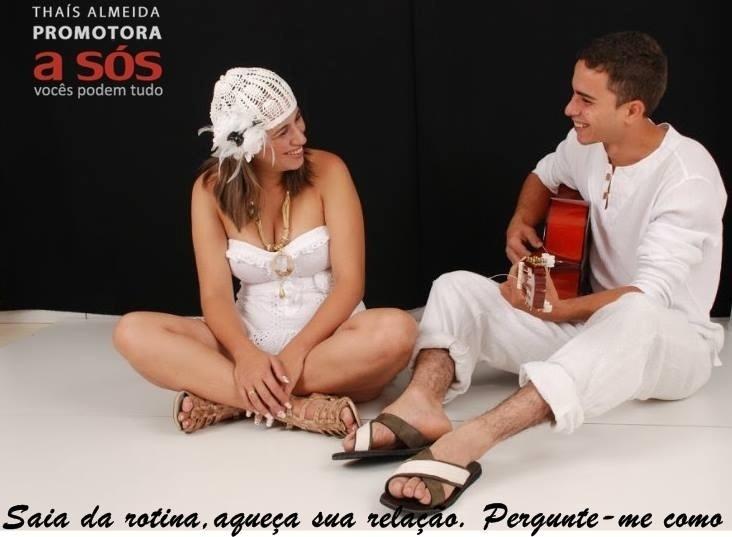 Thaís e o marido, Geidson de Almeida, também participam de suingue