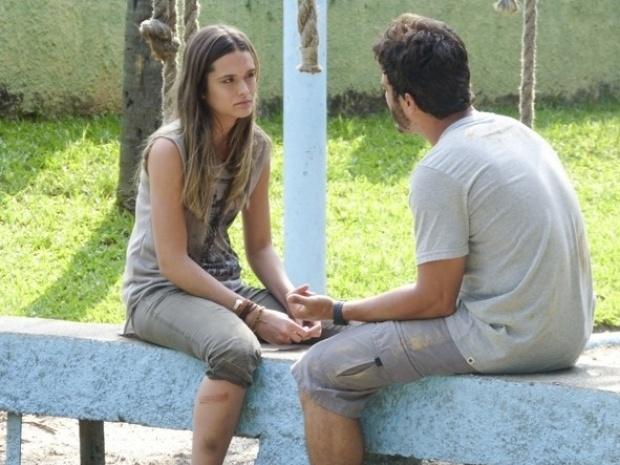 """Em """"Além do Horizonte"""", William convence Lili a continuar o treinamento"""