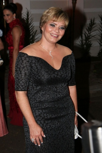 6.dez.2013 - Cíntia Abravanel no casamento de Silvia