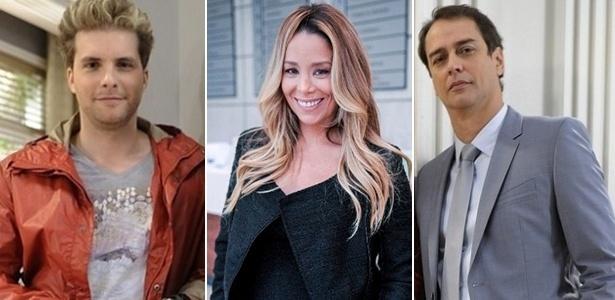 Niko (Thiago Fragoso), Amarilys (Danielle Winits) e Eron (Marcello Anthony) - Divulgação/TV Globo