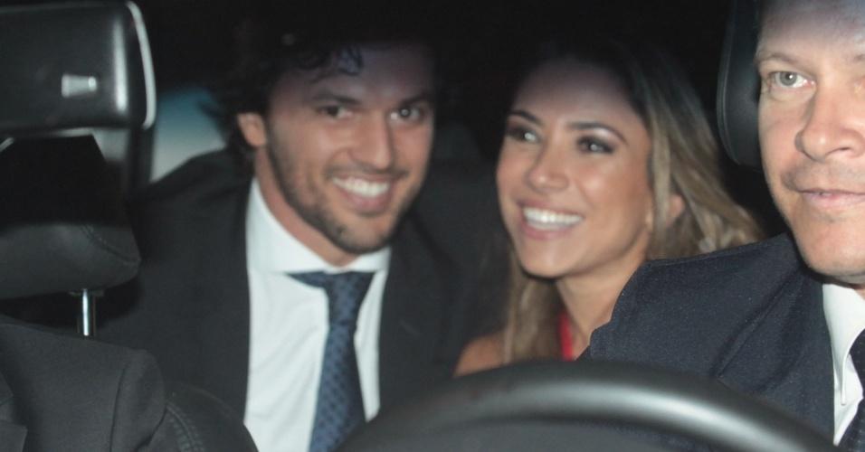 6.dez.2013 - Patrícia Abravanel e o namorado, o deputado Fábio Faria